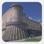 Europa, Italia, Nápoles, castillo Nuovo Pegatinas Cuadradas