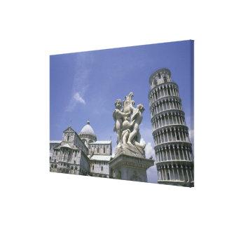 Europa, Italia, Pisa, torre inclinada de Pisa Impresión En Lona
