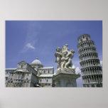 Europa, Italia, Pisa, torre inclinada de Pisa Posters
