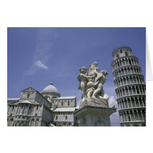 Europa, Italia, Pisa, torre inclinada de Pisa Felicitaciones