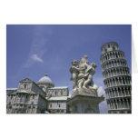Europa, Italia, Pisa, torre inclinada de Pisa Tarjeta De Felicitación