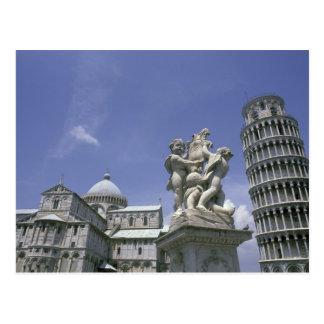 Europa, Italia, Pisa, torre inclinada de Pisa Tarjetas Postales