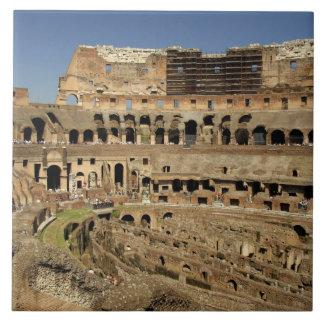 Europa, Italia, Roma. El Colosseum (aka Azulejo Cuadrado Grande