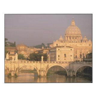 Europa, Italia, Roma, el Vatican. Basílica San Impresión En Madera