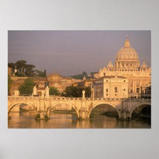 Europa, Italia, Roma, el Vatican. Basílica San Póster