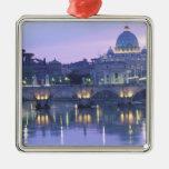 Europa, Italia, Roma, el Vatican. San Pedro y Adorno Navideño Cuadrado De Metal