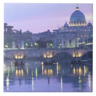 Europa, Italia, Roma, el Vatican. San Pedro y Azulejo Cuadrado Grande