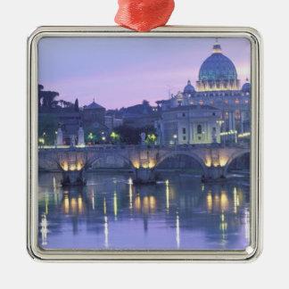 Europa, Italia, Roma, el Vatican. San Pedro y Adorno Cuadrado Plateado