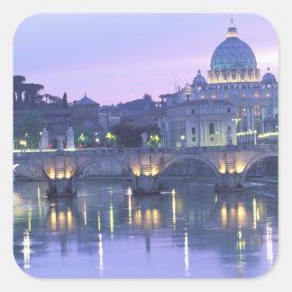 Europa, Italia, Roma, el Vatican. San Pedro y Pegatina Cuadrada