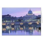 Europa, Italia, Roma, el Vatican. San Pedro y Tarjeta De Felicitación