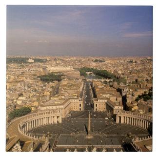 Europa, Italia, Roma, el Vatican. Visión desde el  Azulejo Cuadrado Grande