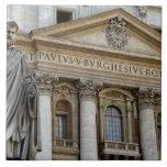 Europa, Italia, Roma. La basílica de San Pedro (ak Azulejo Cuadrado Grande