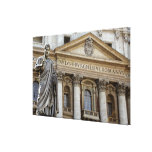 Europa, Italia, Roma. La basílica de San Pedro (ak Impresión En Lona Estirada