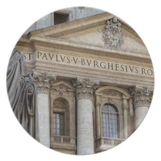Europa, Italia, Roma. La basílica de San Pedro (ak Plato De Cena