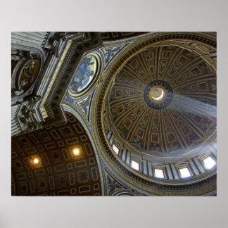 Europa, Italia, Roma. La basílica de San Pedro (ak Póster