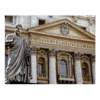 Europa, Italia, Roma. La basílica de San Pedro (ak Postal