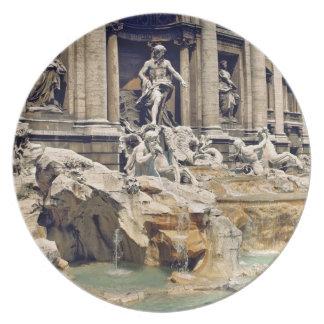 Europa, Italia, Roma. Las monedas dejan en desorde Platos De Comidas