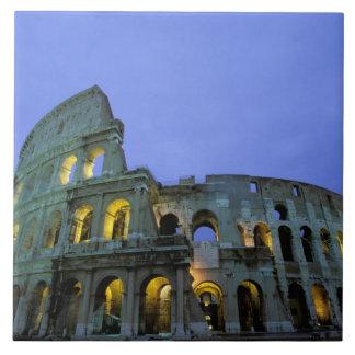 Europa, Italia, Roma. Opinión de la tarde del Azulejo Cuadrado Grande