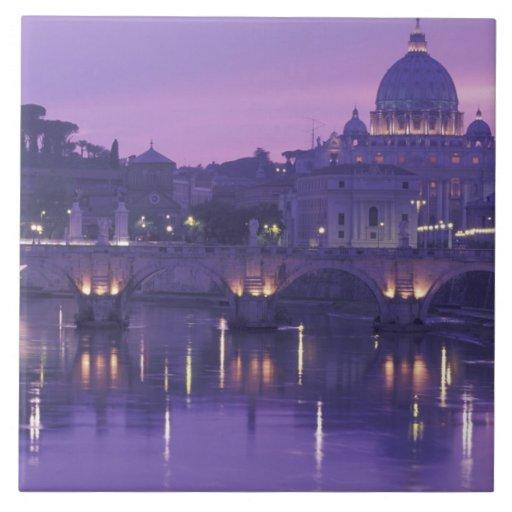 Europa, Italia, Roma. San Pedro y Ponte Sant Azulejo Cerámica