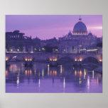 Europa, Italia, Roma. San Pedro y Ponte Sant Posters