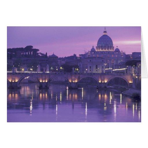 Europa, Italia, Roma. San Pedro y Ponte Sant Tarjetas