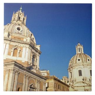 Europa, Italia, Roma. Santa María Di Lorento y Azulejo Cuadrado Grande