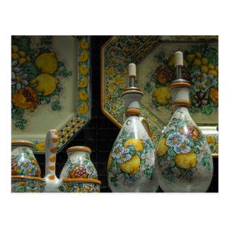 Europa, Italia, Sicilia, Taormina. 7 tradicionales Postales