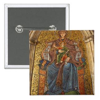 Europa, Italia, Sicilia, Taormina. Madonna y niño Pin Cuadrada 5 Cm