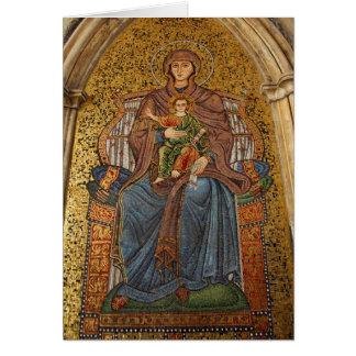 Europa, Italia, Sicilia, Taormina. Madonna y niño Tarjeta De Felicitación