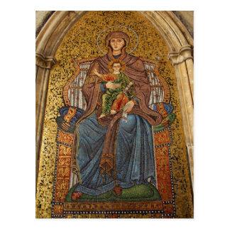 Europa, Italia, Sicilia, Taormina. Madonna y niño Tarjeta Postal