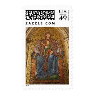Europa, Italia, Sicilia, Taormina. Madonna y niño Timbre Postal