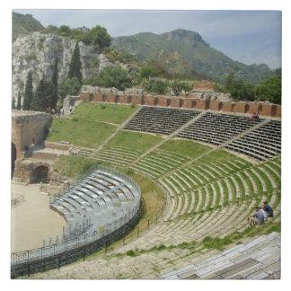 Europa, Italia, Sicilia, Taormina. Siglo III Azulejo Cuadrado Grande