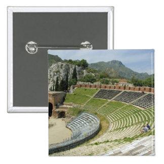 Europa, Italia, Sicilia, Taormina. Siglo III Pin Cuadrada 5 Cm