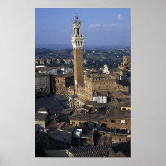 Europa, Italia, Siena. Descripción de la ciudad Posters