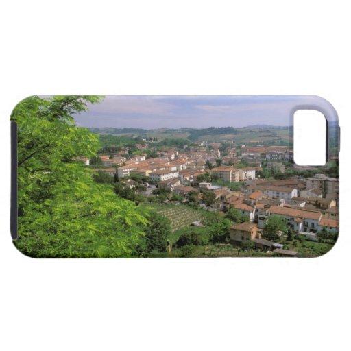 Europa, Italia, Toscana, Certaldo. Colina medieval iPhone 5 Cárcasas