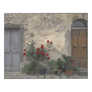 Europa, Italia, Toscana, Chianti, entrada toscana Impresión En Madera