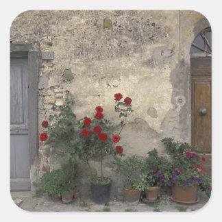 Europa, Italia, Toscana, Chianti, entrada toscana; Calcomanía Cuadrada