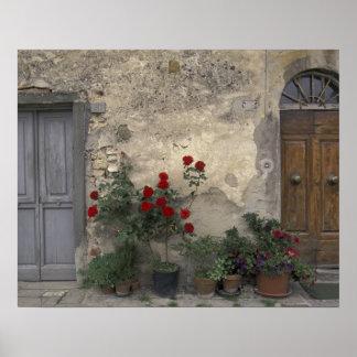 Europa, Italia, Toscana, Chianti, entrada toscana; Póster