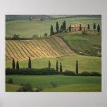 Europa, Italia, Toscana, d Orcia, Toscano de Val Posters