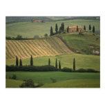 Europa, Italia, Toscana, d Orcia, Toscano de Val Tarjeta Postal