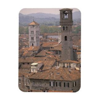 Europa, Italia, Toscana, Lucca, panorama de la ciu Imanes