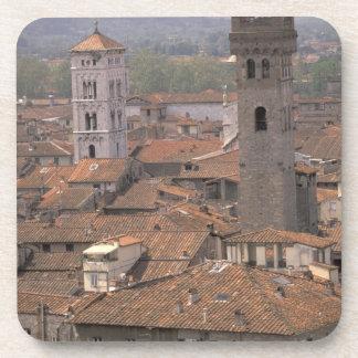 Europa, Italia, Toscana, Lucca, panorama de la ciu Posavasos