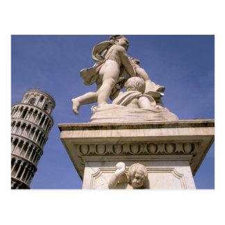Europa, Italia, Toscana, Pisa. Dei de la plaza Tarjeta Postal
