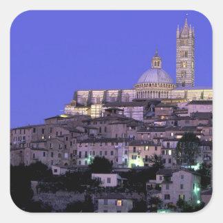 Europa, Italia, Toscana, Siena. décimotercero C. Pegatina Cuadrada