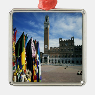 Europa, Italia, Toscana, Siena. Del de la plaza Adorno Cuadrado Plateado