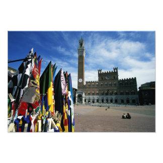 Europa, Italia, Toscana, Siena. Del de la plaza Fotografía