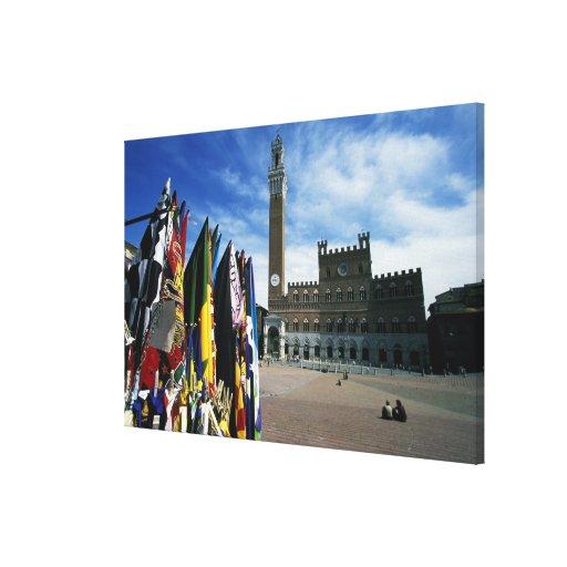 Europa, Italia, Toscana, Siena. Del de la plaza Lona Envuelta Para Galerias