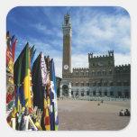 Europa, Italia, Toscana, Siena. Del de la plaza Pegatina Cuadrada