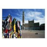 Europa, Italia, Toscana, Siena. Del de la plaza Foto
