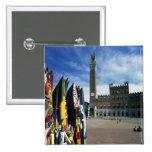 Europa, Italia, Toscana, Siena. Del de la plaza Pin Cuadrada 5 Cm